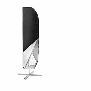MOHOO Sonnenschirm Hülle mit Stab, Ampelschirm Schutzhülle 2 bis 4 M Große Sonnenschirm Abdeckung,UV-Schutz, durchgängiger Reißverschluss,Winddicht und Schneesicher,Oxford Gewebe - 1