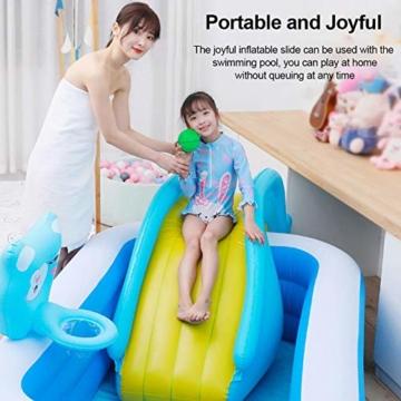 mooderff Aufblasbare Wasserrutschen PVC Pool Rutsche Schwimmbad Liefert Kinder Wasserspiel Freizeitanlage - 5