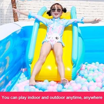 mooderff Aufblasbare Wasserrutschen PVC Pool Rutsche Schwimmbad Liefert Kinder Wasserspiel Freizeitanlage - 7