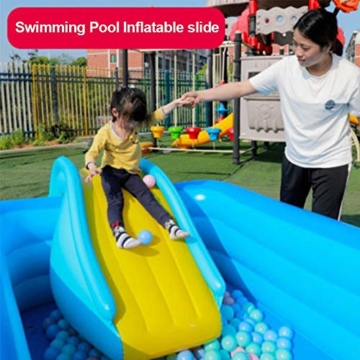 NAKELUCY Aufblasbare Wasserrutsche Breitere Schritte Fun Play Center, PVC Joyful Swimming Pool Zubehör für Kinder Wasserspiel Freizeitanlage - 2