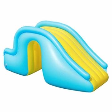 NAKELUCY Aufblasbare Wasserrutsche Breitere Schritte Fun Play Center, PVC Joyful Swimming Pool Zubehör für Kinder Wasserspiel Freizeitanlage - 4