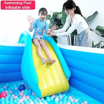 NAKELUCY Aufblasbare Wasserrutsche Breitere Schritte Fun Play Center, PVC Joyful Swimming Pool Zubehör für Kinder Wasserspiel Freizeitanlage - 5
