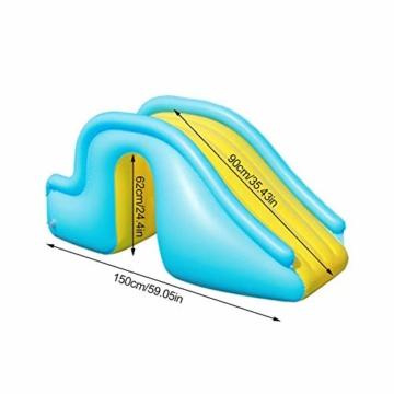 NAKELUCY Aufblasbare Wasserrutsche Breitere Schritte Fun Play Center, PVC Joyful Swimming Pool Zubehör für Kinder Wasserspiel Freizeitanlage - 7