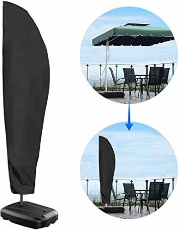 Nasharia Schutzhülle für Ampelschirm, Ampelschirm Oxford-Gewebe Schutzhülle 2 bis 4 M Große Sonnenschirm Abdeckung Wetterfeste, UV-Anti, Winddicht und Schneesicher für Outdoor (280x30/81/46cm) - 7