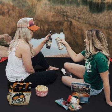 Odoland Picknickdecke 110 x 160 cm Stranddecke wasserdichte Sandabweisende Tragbare Camingmatte Ultraleicht Kompakt Strandtuch für BBQ, Strand, Reisen, Camping und Picknick - 2