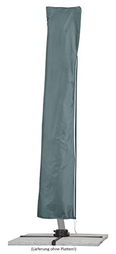 Schneider Sonnenschirm Rhodos Rondo, bordeaux, 350 cm rund, Gestell Aluminium, Bespannung Polyester, 22.4 kg - 2
