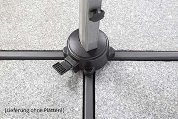 Schneider Sonnenschirm Rhodos Rondo, bordeaux, 350 cm rund, Gestell Aluminium, Bespannung Polyester, 22.4 kg - 9