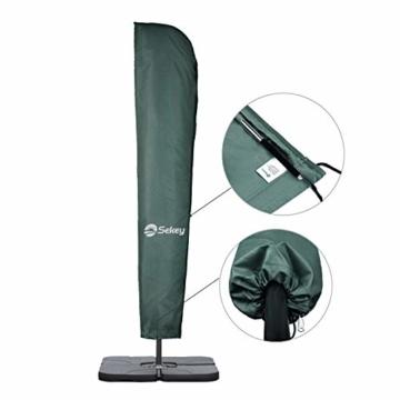 Sekey® Schutzhülle für Ampelschirm/Sonnenschirm,Abdeckhauben für Sonnenschirm, 100% Polyester - 4