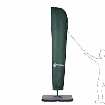 Sekey® Schutzhülle für Ampelschirm/Sonnenschirm,Abdeckhauben für Sonnenschirm, 100% Polyester - 6