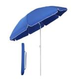 Sekey® Sonnenschirm 160 cm Marktschirm Gartenschirm Terrassenschirm Blau Rund Sonnenschutz UV20+ - 1
