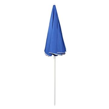 Sekey® Sonnenschirm 160 cm Marktschirm Gartenschirm Terrassenschirm Blau Rund Sonnenschutz UV20+ - 3