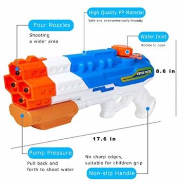 Sunshine smile 4er Düsen Wasserspritzpistole Wasserpistole Wasserspritze Mini Schaumstoff Spritzpistole für Kinder als Mitgebsel - 2