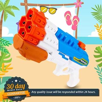 Sunshine smile 4er Düsen Wasserspritzpistole Wasserpistole Wasserspritze Mini Schaumstoff Spritzpistole für Kinder als Mitgebsel - 4