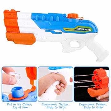 Sunshine smile 4er Düsen Wasserspritzpistole Wasserpistole Wasserspritze Mini Schaumstoff Spritzpistole für Kinder als Mitgebsel - 5