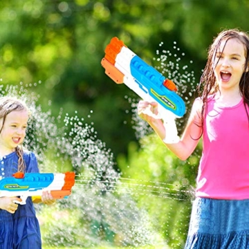 Sunshine smile 4er Düsen Wasserspritzpistole Wasserpistole Wasserspritze Mini Schaumstoff Spritzpistole für Kinder als Mitgebsel - 7