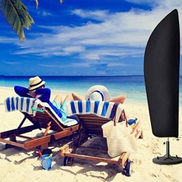 T98 Sonnenschirm Schutzhülle mit Stab, Ampelschirm Schutzhülle 420D Oxford-Gewebe Große Sonnenschirm Abdeckung 2 bis 4 m Wasserdicht UV-Beständiges Sonnenschirmhülle Abdeckhauben, 280x33/81/47 cm - 2