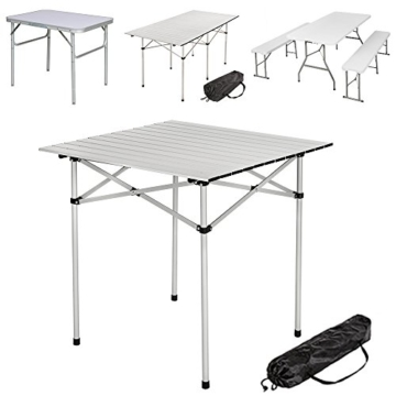 TecTake Klapptisch Campingtisch Gartentisch Campingmöbel - Diverse Modelle - (70x70x70cm (Model 401169)) - 1