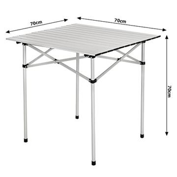 TecTake Klapptisch Campingtisch Gartentisch Campingmöbel - Diverse Modelle - (70x70x70cm (Model 401169)) - 6