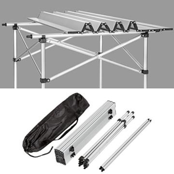 TecTake Klapptisch Campingtisch Gartentisch Campingmöbel - Diverse Modelle - (70x70x70cm (Model 401169)) - 7