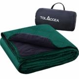 Tolaccea Warme Fleece Decke Outdoor,Picknickdecke Wasserdicht,Tragbar Camping Decke,Sandfrei Stranddecke,Ideal für Camping Picknicks Stadion Reise Cars Hunde und Heimnutzung - 1