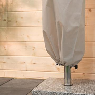 Ultranatura Schutzhülle für Ampelschirm, wasserdichte Hülle für Ampelschirm Sonnenschirm – wetterfeste Abdeckung für Gartenschirm mit 3 bis 3,50 m Schirmdurchmesser, Winter Abdeckung für Ampelschirm - 4