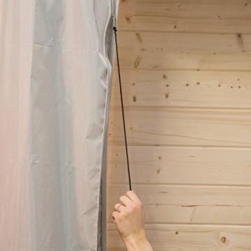 Ultranatura Schutzhülle für Ampelschirm, wasserdichte Hülle für Ampelschirm Sonnenschirm – wetterfeste Abdeckung für Gartenschirm mit 3 bis 3,50 m Schirmdurchmesser, Winter Abdeckung für Ampelschirm - 6