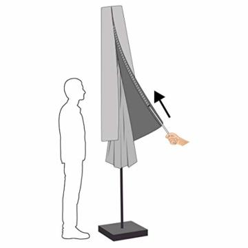 Ultranatura Schutzhülle für Ampelschirm, wasserdichte Hülle für Ampelschirm Sonnenschirm – wetterfeste Abdeckung für Gartenschirm mit 3 bis 3,50 m Schirmdurchmesser, Winter Abdeckung für Ampelschirm - 7