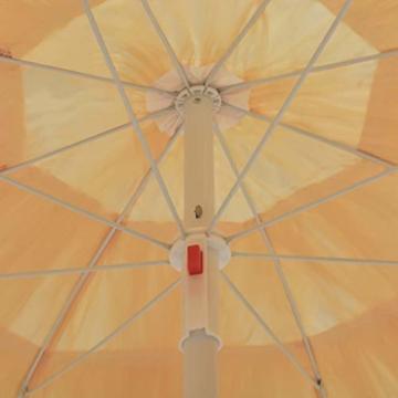 vidaXL Strandschirm Natur 180cm Hawaii Sonnenschirm Gartenschirm Balkonschirm - 2