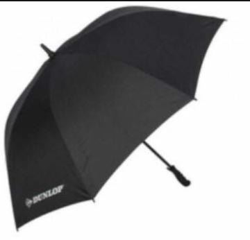 XXL Dunlop Regenschirm 130 cm Stockschirm Partnerschirm Golf Schirm Umbrella, Regenschirm:schwarz - 1