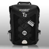 100% Wasserdichter Rucksack   20L   ideal für Radsport + Camping + Wassersport & Strand by Nolabel   Schutz vor Wasser + Sand + Staub & Matsch (Komplett Schwarz) - 1