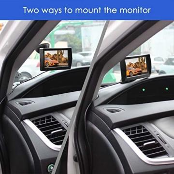 AUTO-VOX M1 Rückfahrkamera mit Monitor, IP68 wasserdichte AutoKamera für Einparkhilfe Rückfahrhilfe mit Stabiler Signalübertragung, 4.3'' TFT LCD Rückansicht Bildschirm - 2