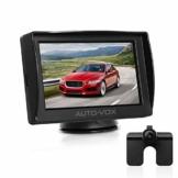 AUTO-VOX M1 Rückfahrkamera mit Monitor, IP68 wasserdichte AutoKamera für Einparkhilfe Rückfahrhilfe mit Stabiler Signalübertragung, 4.3'' TFT LCD Rückansicht Bildschirm - 1