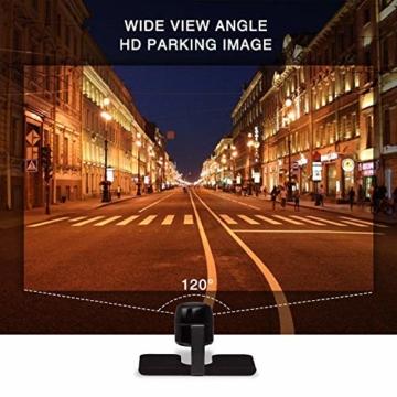 AUTO-VOX M1 Rückfahrkamera mit Monitor, IP68 wasserdichte AutoKamera für Einparkhilfe Rückfahrhilfe mit Stabiler Signalübertragung, 4.3'' TFT LCD Rückansicht Bildschirm - 7