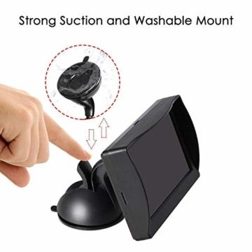 AUTO-VOX M1 Rückfahrkamera mit Monitor, IP68 wasserdichte AutoKamera für Einparkhilfe Rückfahrhilfe mit Stabiler Signalübertragung, 4.3'' TFT LCD Rückansicht Bildschirm - 8
