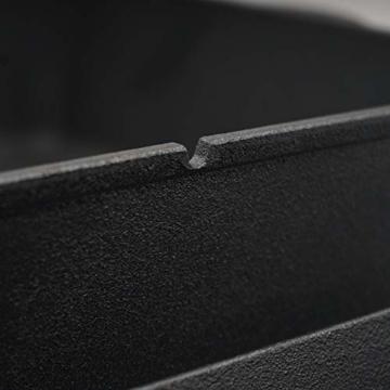 BBQ-Toro Dutch Oven Pan | Gusseisen Kochtopf | 10,8 Liter Gusstopf | preseasoned - bereits eingebrannt | Bräter mit Deckel - 4
