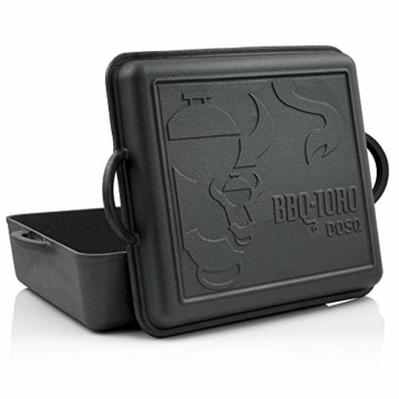 BBQ-Toro Dutch Oven Pan | Gusseisen Kochtopf | 10,8 Liter Gusstopf | preseasoned - bereits eingebrannt | Bräter mit Deckel - 1