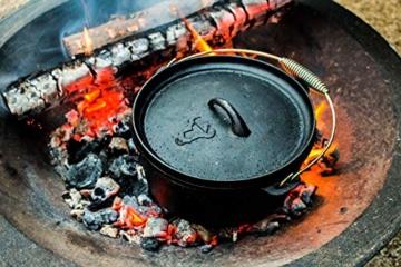 BBQ-Toro Dutch Oven Set in Holzkiste mit Dutch Oven und mehr | Gusseisen - bereits eingebrannt (7-teilig) - 2