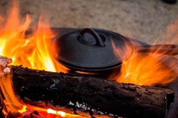 BBQ-Toro Dutch Oven Set in Holzkiste mit Dutch Oven und mehr | Gusseisen - bereits eingebrannt (7-teilig) - 8
