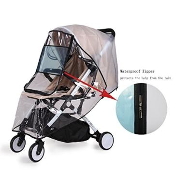 bemece Universal Regenschutz für Kinderwagen, Regenverdeck für buggy, Bequemes Zugangsfenster, Gute Luftzirkulation, Schadstofffrei - 2