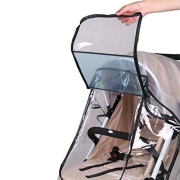 bemece Universal Regenschutz für Kinderwagen, Regenverdeck für buggy, Bequemes Zugangsfenster, Gute Luftzirkulation, Schadstofffrei - 3