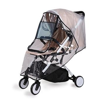 bemece Universal Regenschutz für Kinderwagen, Regenverdeck für buggy, Bequemes Zugangsfenster, Gute Luftzirkulation, Schadstofffrei - 1