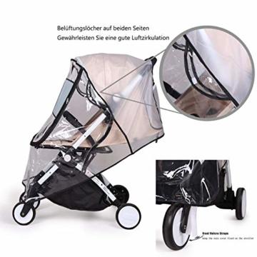 bemece Universal Regenschutz für Kinderwagen, Regenverdeck für buggy, Bequemes Zugangsfenster, Gute Luftzirkulation, Schadstofffrei - 5