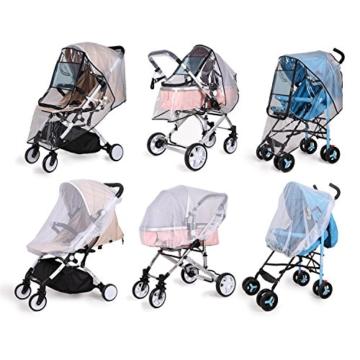 bemece Universal Regenschutz für Kinderwagen, Regenverdeck für buggy, Bequemes Zugangsfenster, Gute Luftzirkulation, Schadstofffrei - 6
