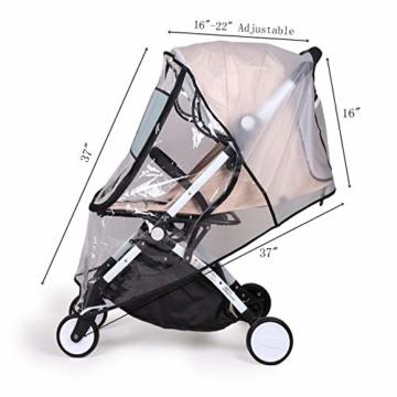 bemece Universal Regenschutz für Kinderwagen, Regenverdeck für buggy, Bequemes Zugangsfenster, Gute Luftzirkulation, Schadstofffrei - 7