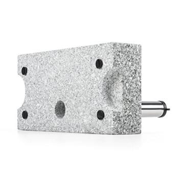 blumfeldt Schirmherr 25HSQ Sonnenschirmständer Schirmständer (Stammdicke: 3,5-4 cm, versetztes Rohr, Granit, witterungsbeständig, 45x22 cm, hochstabil, 25 kg) Silber-grau - 4