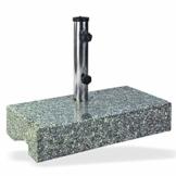 DEMA Sonnenschirmständer halb 25 kg Granit - 1