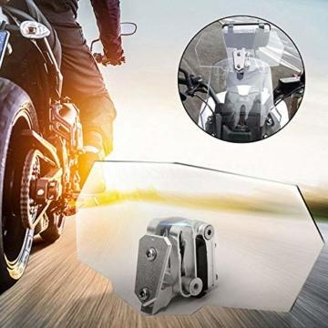 eSynic Windschutzscheibenverlängerung für Motorrad, verstellbar, zum Anklippen, für Motorrad, transparent - 2