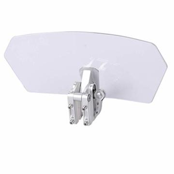 eSynic Windschutzscheibenverlängerung für Motorrad, verstellbar, zum Anklippen, für Motorrad, transparent - 6