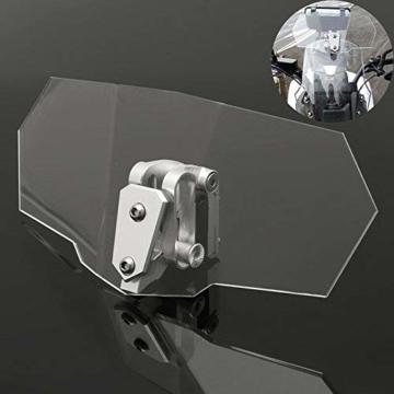 eSynic Windschutzscheibenverlängerung für Motorrad, verstellbar, zum Anklippen, für Motorrad, transparent - 7