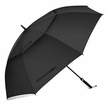 FIXM Golfschirm 172 cm Bogenlänge 153cm Durchmesser Golf Regenschirm, Automatisch Öffnen Golfschirm, Belüftete Doppelbespannung, Wasserdicht, rutschfest & Langlebig, Perfekt gegen Wind, Regen & Sonne - 1